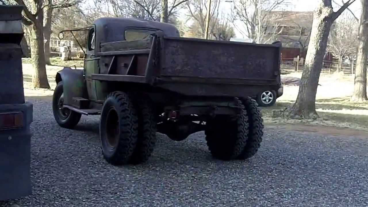 1942 Chevy 1 1 2 Ton Dump Truck Test Drive Youtube