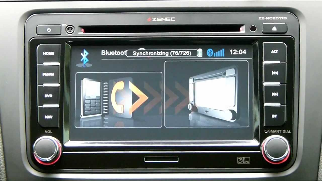 zenec ze nc2011d bluetooth tan t m videosu youtube