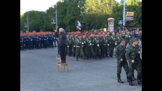Donetsk parade rehearsals. Just like in Moscow