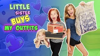MY LITTLE SISTER BUYS MY OUTFITS CHALLENGE!!