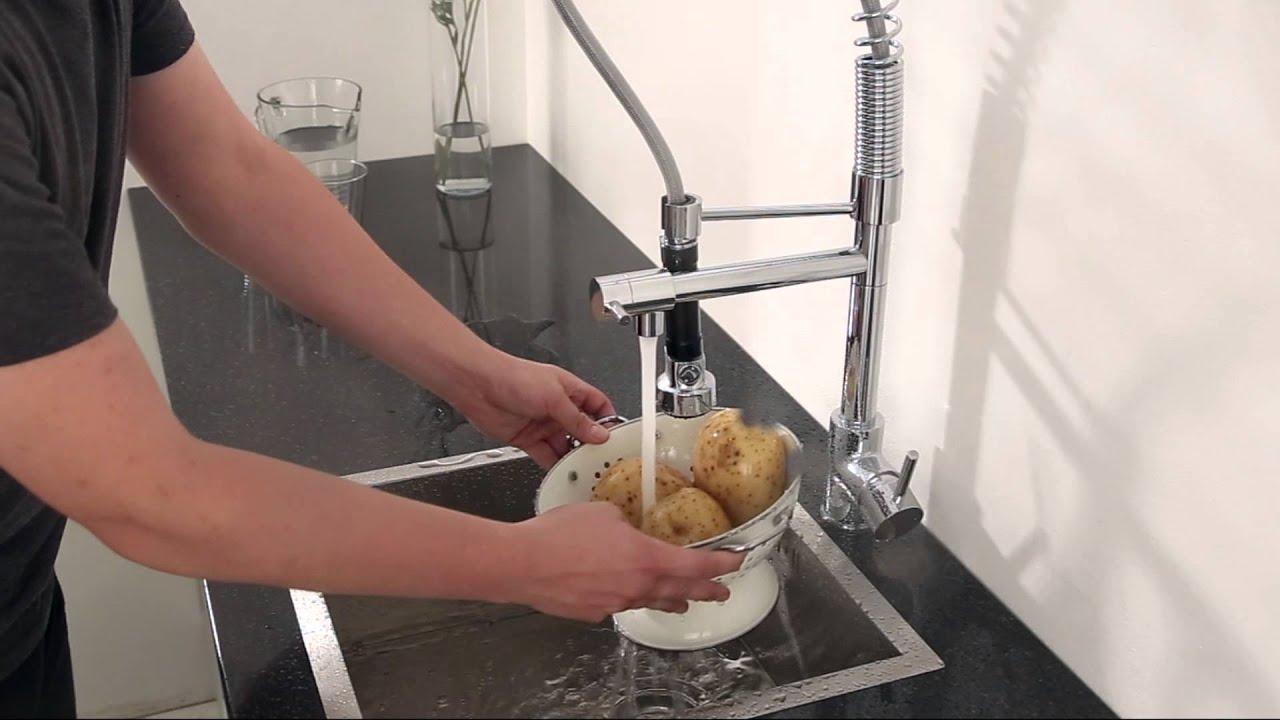 Miscelatore lavello cucina multifunzione doccetta comando for Miscelatore cucina ikea