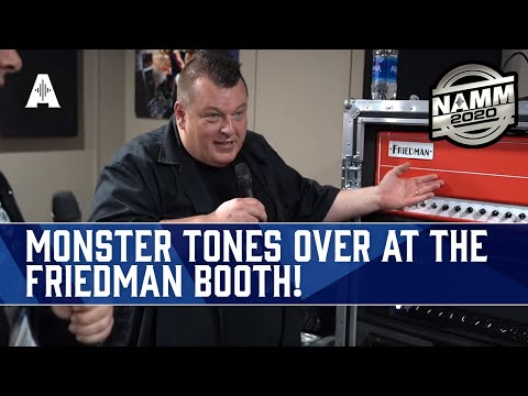 Rabea & Danish Pete Check Out The Friedman Amplification Booth At NAMM 2020!