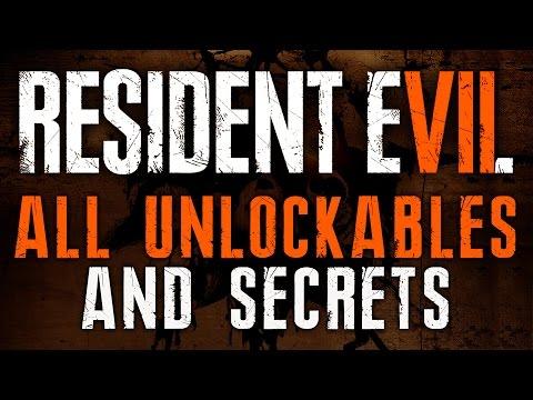 Resident Evil 7 ALL UNLOCKABLES | RE7 Infinite Ammo, X-Ray Glasses, Circular Saw, Toy Shotgun & Axe