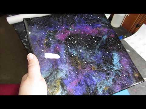 Small Resin Galaxy Pour Art (184)