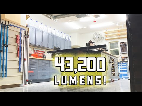 Garage Shop LED Lighting Upgrade // Cheap LED Fixtures