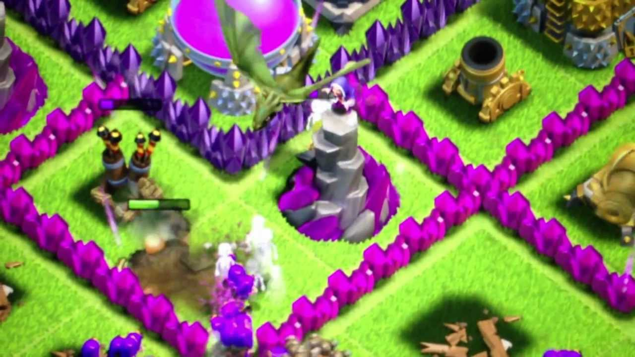 Clash Of Clans Wizard Tower And Mortar Bug YouTube