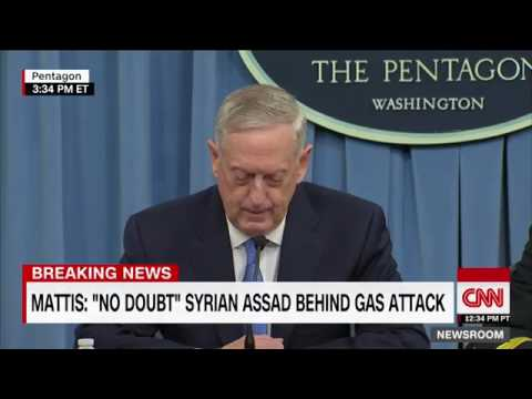 Mattis  No doubt Syria behind gas attack
