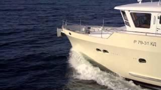 Стальной моторный траулер PolarStar серии М56(Ходовые испытания моторного траулера PolarStar серии M56. Производства судовой верфи компании ООО