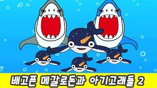 한국어ㅣ배고픈 메갈로돈과 아기고래들 2, 고래이름 맞추기, 어린이 동물동화, 컬렉타ㅣ꼬꼬스토이