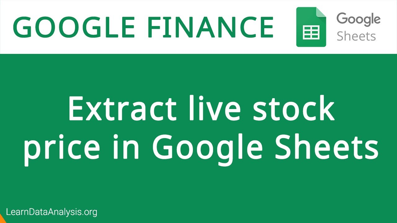 How to get Live Stock Price in Google Sheets