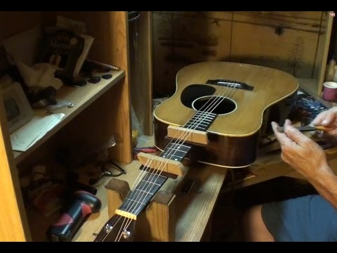 Sigma acoustic guitar from 1970 Stop fret buzz with your truss rod! Plus one high fret
