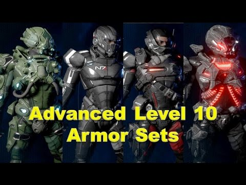 Mass Effect Andromeda Advanced Level 10 Blueprint Crafted Armor Sets