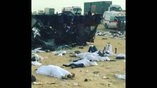 A bus accident kills 13, injured 36 in Taif