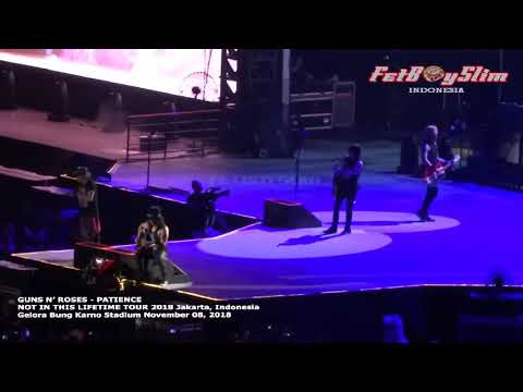 GUNS N' ROSES   PATIENCE live in JAKARTA 2018 NOT IN THIS LIFETIME TOUR 2018   YouTube