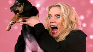 Kate McKinnon Plays With Puppies