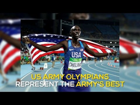 US Army Soldiers compete in the 2016 Rio Olympics. They hold a virtual press conference with students from high schools across the country at the 2016 Association of the United States Army Convention in Washington D.C.