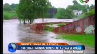 Canal 9 Bahía Blanca - Lluvias y crecida del Rio Sauce grande en Sladungaray