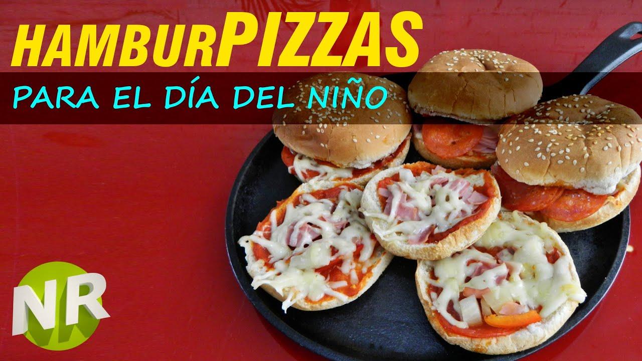 Como hacer hamburpizzas para ni os hamburguesas y pizzas for Como preparar comida para ninos
