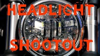 2017 Triumph Bobber LED Headlight upgrade Shootout