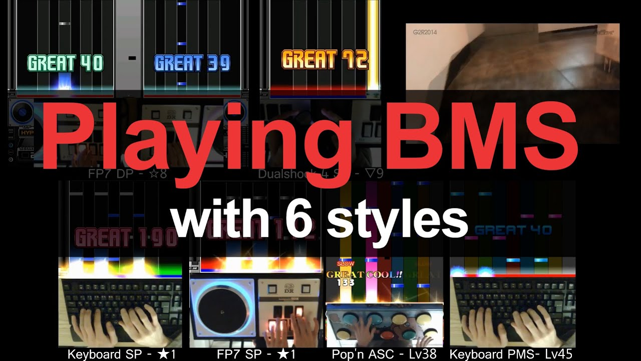 Playing BMS using 6 styles