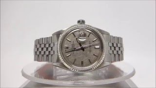 vintage rolex ref 1601 oyster perpetual datejust automatic watch year 1971