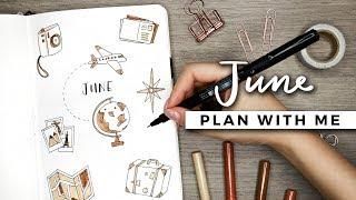 Video PLAN WITH ME | June 2018 Bullet Journal Setup download MP3, 3GP, MP4, WEBM, AVI, FLV Juli 2018