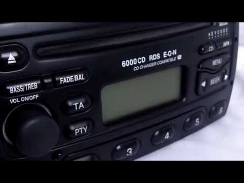 ford 6000 cd rds eon car stereo radio with code - youtube