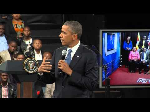 President Obama's Town Hall With Young African Leaders