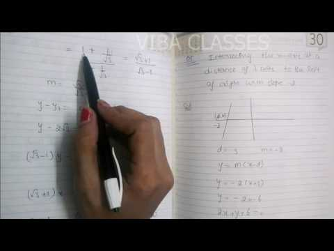STRAIGHT LINE CLASS XI EXERCISE 10.2 QUESTION 1 TO 10 SOLUTIONS NCERT CBSE
