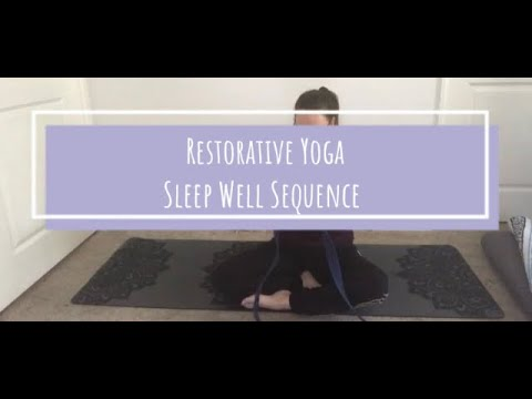 restorative yoga  sleep well  youtube