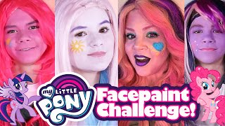 my little pony face paint challenge makeup transformation pinkie pie twilight sparkle princess