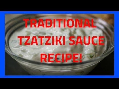 TZATZIKI SAUCE TRADITIONAL GREEK RECIPE (Cucumber and Greek Yogurt)