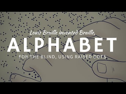Invention of Braille Tactile Writing System by a Young Scientist