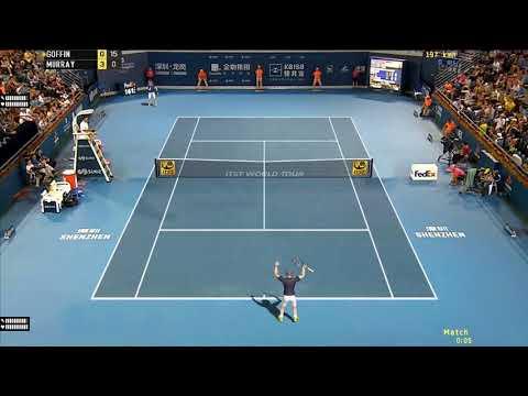 Tennis Elbow 2018 Gameplay - Goffin vs Murray - Shenzhen 2018 | ITST 1.18 Mod