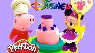 Лепим из пластилина Плей до подарки на день рождения Минни Маус вместе с Пеппа Пиг и Элмо  Play Doh(Замечательный подарок из набора пластилина Плей до для Минни Маус слепим сами. На день рождения для Минни..., 2015-02-12T18:23:00.000Z)