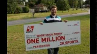 MLB 2k10 1 Million Dollar Winner Wade McGilberry of Alabama