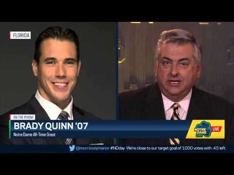 Brady Quinn Interview - Notre Dame Day 2016
