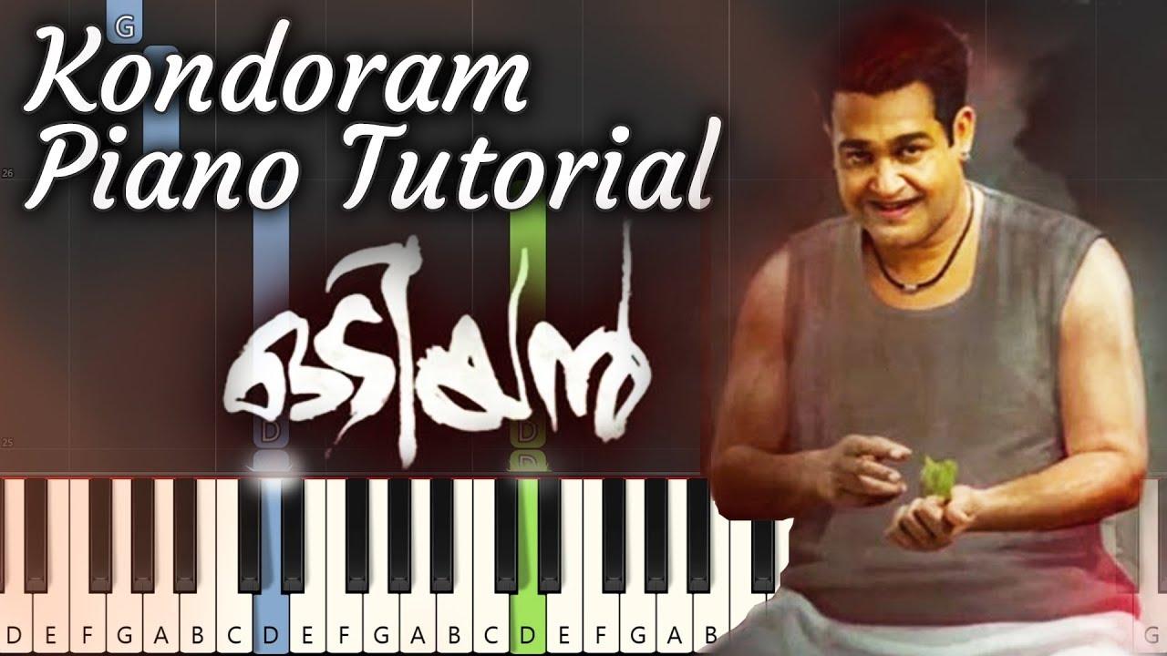 Kondoram Odiyan Piano Tutorial | Notes & MIDI | Malayalam Song