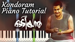 Kondoram Odiyan Piano Tutorial | Notes & MIDI | Malayalam Song