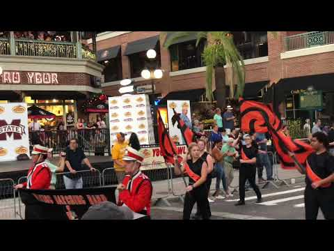 Outback Bowl 2019 Parade at Ybor city Tampa, Florida on new year's eve 12/31/2018