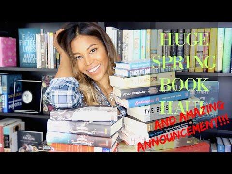 SPRING BOOK HAUL + AMAZING ANNOUNCEMENT!!   AMERIIE