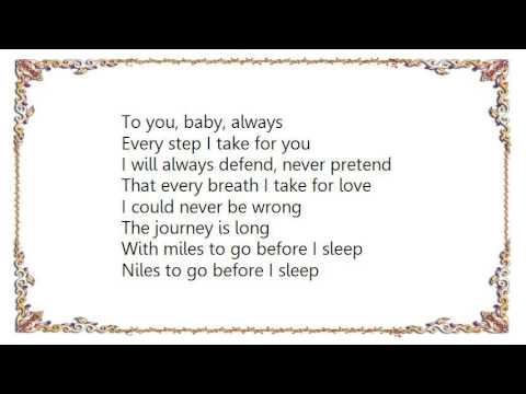 Céline Dion - Miles to Go Before I Sleep Lyrics