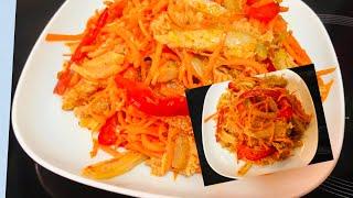 Корейский салат Хе из требухи.  Рецепт корейского хе. Готовьте с нами.