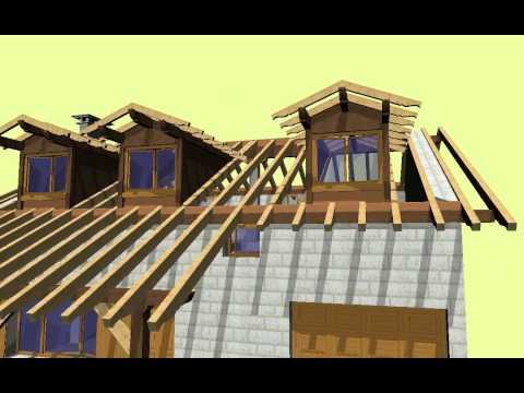 Carpinter 205 A Zulaika Cubierta Con Porche Y Mansardas Youtube