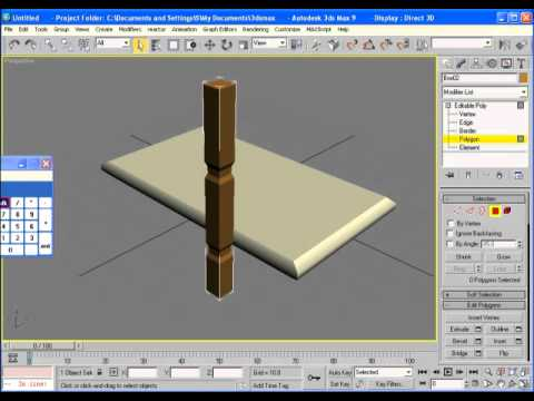 how to make a simple table in 3d max urdu youtube. Black Bedroom Furniture Sets. Home Design Ideas