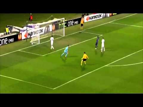 Roberto Soldado MISSES AMAZING CHANCE - Fiorentina vs Tottenham Spurs HD