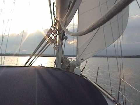 Cape Dory 36, Sailing from Charlevoix to Beaver Is...