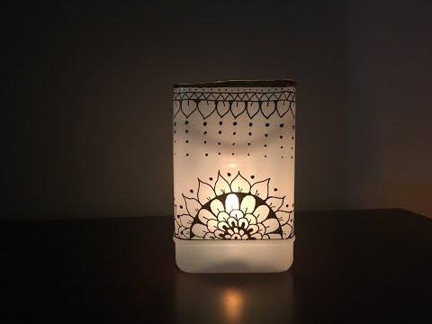 How To Make DIY Candle Holder|Best Use of Waste|Mandala Art Home Decor|Christmas Decor