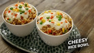Cheesy Rice Bowl Recipe - cafe mcdonalds style - CookingShooking