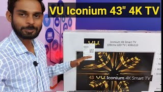 Vu Iconium 109cm (43 inch) Ultra HD (4K) LED Smart TV Unboxing & Review | Vu Android Smart TV